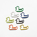baratos Essenciais de Escritório-pato estilo colorido clipes de papel (cor aleatória, 10-pack)