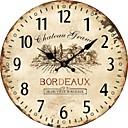 رخيصةأون ساعات حائط روستيك-1 قطعة النمط الأوروبي خشبية خمر ساعة الحائط تزيين المنزل