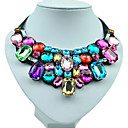 cheap Necklaces-Women's Synthetic Diamond Bib Statement Necklace - Resin, Rhinestone, Imitation Diamond Fashion, Colorful Handmade Necklace Jewelry For Wedding, Party, Daily