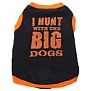 ieftine Îmbrăcăminte Câini-Câine Tricou Îmbrăcăminte Câini Literă & Număr Negru Bumbac Costume Pentru animale de companie
