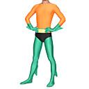 cheap Zentai Suits-Zentai Suits Ninja Zentai Cosplay Costumes Orange Print Leotard/Onesie Zentai Spandex Lycra Men's Halloween