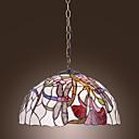 billige Bordlamper-tiffany anheng lys med 2 lys i øyenstikker floral mønstrede skygge