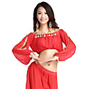 cheap Belly Dance Wear-Belly Dance Tops Women's Training Chiffon Coin Long Sleeve Top / Performance