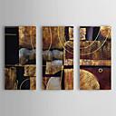 رخيصةأون يطبع قماش يلف-رسمت باليد تجريدي أفقي كنفا هانغ رسمت النفط الطلاء تصميم ديكور المنزل ثلاث لوحات