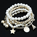 cheap Religious Jewelry-Women's Charm Bracelet / Wrap Bracelet - Pearl Tower, Friends, Star Unique Design, Fashion Bracelet White / Silver For Christmas Gifts / Party / Daily