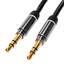 preiswerte Audio & Video-jsj® 1,8 5.904ft 3,5 mm Stecker auf Stecker Audio-Kabel schwarz für Monster vergoldeten schlägt sennheiser