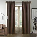 preiswerte Fenster Schürze-Schlaufen für Gardinenstange Ösen Schlaufen Zweifach gefaltet zwei Panele Window Treatment Modern Solide 100% Polyester Polyester Stoff