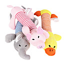 cheap Dog Collars, Harnesses & Leashes-Plush Toys Cartoon Squeak / Squeaking Plush For Cat Dog