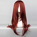 preiswerte Lolita Perücken-Cosplay Perücken Naruto Karin Rot Anime Cosplay Perücken 26 Zoll Hitzebeständige Faser Damen Halloween-Perücken