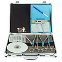 povoljno Svadbeni privjesci za ključeve-Kit pištolja Pribor za trajne šminke Tijelo Olovka i Shader Jezik VCD Piercing Scissors Case