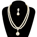 cheap Jewelry Sets-Women's Pearl Jewelry Set Earrings / Necklace - For Wedding / Party / Anniversary