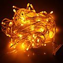 baratos Mangueiras de LED-100-led 10m decoração de férias luz amarela levou luz de corda