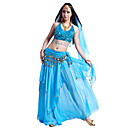 cheap Belly Dance Wear-Belly Dance Outfits Women's Chiffon Beading / Sequin / Coin / Performance