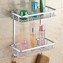 baratos Torneiras de Banheiro-Prateleira de Banheiro Moderna Alumínio 1 Pça. - Banho do hotel