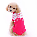 cheap Pet Christmas Costumes-Dog Sweater Dog Clothes Bowknot Rose Woolen Costume For Pets Men's / Women's Fashion