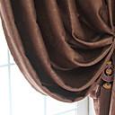 abordables Cortinas-Ventana Tratamiento Modern Europeo Un Color Dormitorio Poliéster Material Decoración hogareña