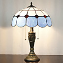 billige Bordlamper-Bordlampe, 2 Light, Minimalistisk Tiffany Resin Glass Painting