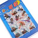 abordables Cebos y Moscas de Pescar-12 pcs Moscas / Paquete de cebos / Cebos Moscas / Paquete de cebos Metal Pesca de Cebo