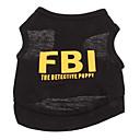 halpa Koiran vaatteet-Koira T-paita Koiran vaatteet Kirjain ja numero Poliisi/Armeija Musta Keltainen Musta/keltainen Puuvilla Asu Lemmikit Miesten Loma Muoti