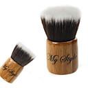 preiswerte erröten Bürsten-Hochwertige synthetische Haar Bamboo Griff Mini Makeup Wohnung Rouge / Puder Kabuki-Pinsel