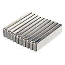 cheap Connectors & Terminals-High Quality 20 X 5 X 2Mm Powerful Ndfeb Magnets - Silver (10 Pcs)