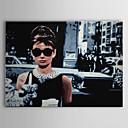 baratos Impressões-Estampados de Lonas Esticada Pessoas Arte Pop Viagem 1 Painel Horizontal Estampado Decoração de Parede Decoração para casa