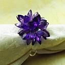 preiswerte Servietten-Ring-Glas Servietten Ring Mit Mustern Umweltfreundlich Tischdekorationen 12 pcs