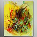 preiswerte Florale/Botansiche Gemälde-Hang-Ölgemälde Handgemalte - Abstrakt Zeitgenössisch Segeltuch