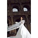 cheap Wedding Veils-One-tier Lace Applique Edge Wedding Veil Cathedral Veils 53 196.85 in (500cm) Tulle A-line, Ball Gown, Princess, Sheath/ Column, Trumpet/