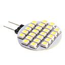 preiswerte LED Glühbirnen-Spot Lampen G4 2 W 140 LM 5500-6500 K 24 SMD 3528 Kühles Weiß DC 12 V