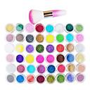 billige Neglestempling-48 / 1 pakke / 49pcs Glimmer Nail Art Kit 48 farger Neglekunst Manikyr pedikyr Moderne / Japan and Korea Style / Free Form