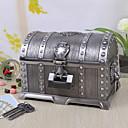 hesapli Takı Kutuları-Vintage Gümüş Tutania Lock Kutusu / Mücevher Kutusu Treasures