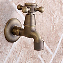 preiswerte Synthetische Perücken-Antike Wandmontage berühren / berührungslos Keramisches Ventil Ein Loch Gebürstet, Waschbecken Wasserhahn