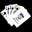 preiswerte Customized Karten-Personalisierte Geschenke Weiß Fußball-Muster-Spielkarte