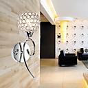 hesapli Duvar Aplikleri-Duvar ışığı Duvar lambaları 110-120V 220-240V E12/E14 Modern/Çağdaş Krom
