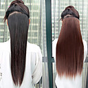 billige Hårstykker-Menneskehår Extensions Lige Klassisk Hestehaler Hårstykke Syntetisk hår 3# 4# 5#