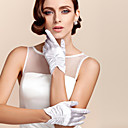 cheap Party Gloves-Satin / Polyester Wrist Length Glove Classical / Bridal Gloves / Party / Evening Gloves With Solid