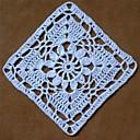זול משטחי שולחן-Coaster 12pcs/set, לבן כותנה מפיות סרוגות בעבודת יד כיכר