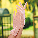cheap Party Gloves-Lace Wrist Length Glove Bridal Gloves / Party / Evening Gloves / General Purposes & Work Gloves With Bowknot