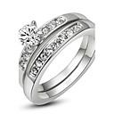 preiswerte Ohrringe-Damen Statement-Ring - Krystall, Diamantimitate Klassisch 6 / 7 / 8 / 9 Silber / Golden Für Hochzeit Party Verlobung / Normal