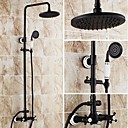 cheap Shower Faucets-Shower Faucet - Antique Oil-rubbed Bronze Tub And Shower Ceramic Valve
