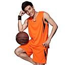 hesapli Basketbol-Erkek Kısa Kollu Basketbol Giysi Setleri Su Geçirmez / Yüksek Hava Alımı (>15,001g) / Nefes Alabilir
