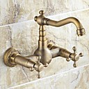 cheap Kitchen Faucets-Kitchen faucet - Traditional Antique Brass Bar / Prep Wall Mounted
