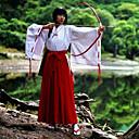 abordables Caja de TV-Inspirado por InuYasha Kikyo Animé Disfraces de cosplay Trajes Cosplay Kimono Un Color Manga Larga Top Pantalones Para Mujer