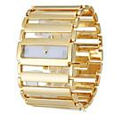 baratos Colares-Mulheres Bracele Relógio Japanês Relógio Casual Aço Inoxidável Banda Luxo / Elegante Prata / Dourada