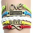 preiswerte Modische Ohrringe-Mehrschichtig Armband - Freunde, Liebe, Unendlichkeit Retro, Party, Freizeit Armbänder Gelb / Regenbogen Für