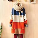 preiswerte Parykopfbedeckungen-Damen Baumwolle Langarm Lose Lang Pullover - Einfarbig / Frühling / Herbst / Winter