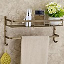 billige Badeværelse tilbehørssæt-Badeværelseshylde Antik Messing 1 stk - Hotel bad