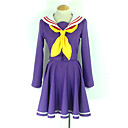 cheap Anime Cosplay Wigs-Inspired by No Game No Life Shiro Anime Cosplay Costumes Cosplay Suits School Uniforms Solid Colored Long Sleeves Cravat Coat Dress Socks