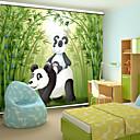 preiswerte Fenster Schürze-schönen Cartoon-Stil Vater panda& Baby-Panda mit Bambusrollo